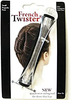 Mia French Twister, Up-Do Hair Styling Tool, Small Size for Short or Thin Hair, Clear Color, for Women, Girls, DressUp, Brides 1pc PATENTED