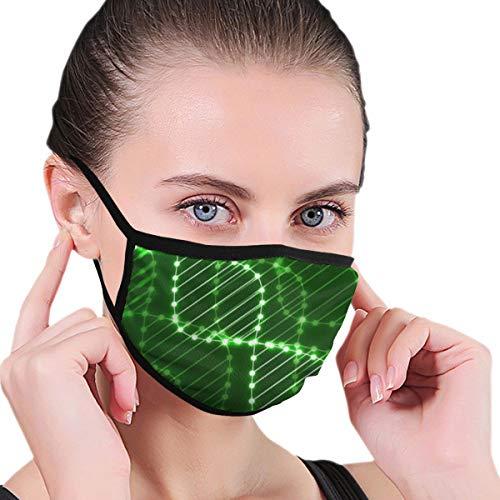 ocaohuahuaba Unisex Abstract Spirale der DNA-Neon-Molekülkette 17,5 cm x 12,5 cm Anti-Staub-Gesichtsbedeckung für Männer und Frauen