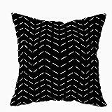 Qian Mu888 Fundas de almohada ocultas, con cremallera oculta, 40,6 x 40,6 cm, patrón de zigzag horizontal, para decoración del hogar