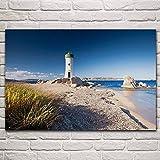 Cuadro En Lienzo 1 Piezas Faro Playa Italia Península Cerdeña Naturaleza Paisaje 1 Piezas Pintura Sobre Lienzo,1 Piezas Imagen Impresión,Pintura Decoración Pared,Canvas 1 Piezas,Tejido No Tejido