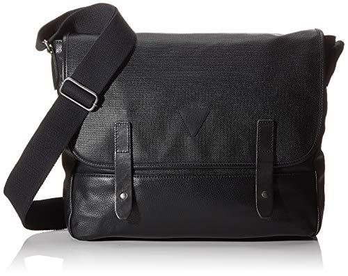 Esprit Accessoires heren Parsons Mssngr schoudertas, zwart (black), 8x33x39 cm