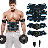 SHENGMI Abs Stimulator Ab Stimulator Recharge Muscle Toner Trainer Ultimate Abs Stimulator for Men Women Abdominal Work Out Ads Power Fitness