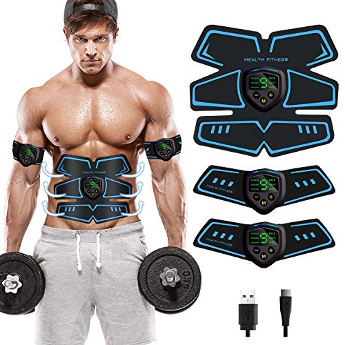 ROOTOK Electroestimulador Muscular Abdominal estimulador Abdominal estimulador Muscular para Abdomen/Cintura/Pierna/Brazo