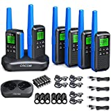 Rechargeable Walkie Talkies for Adults Two Way Radios 2,662 Channels VOX Scan, NOAA Weather Scan Radios, LED Light Rowing Biking Hiking Camping Travel GOCOM G600 6 Pack