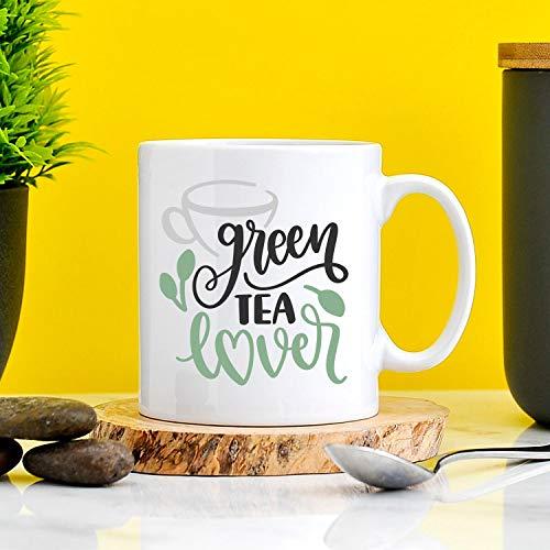 Eli231Abe groene thee liefhebber mok cadeau voor groene thee liefhebbers liefde groene thee gezonde drinker office mok werk mok geheim kerstman cadeau grappige mok