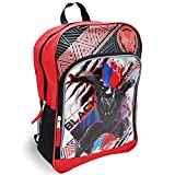 Karacter Corner Marvel Black Panther King of Wakanda 16' Backpack, Large Front Zipper Pocket w/ 2 Mesh Side Pockets