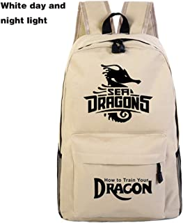 Dragon Coolcool-Backpack Student Daypack Laptop Bag College Bag Fashionable 3D DIY Lightweight Large Space Anti-Dirt Schoolbag-10