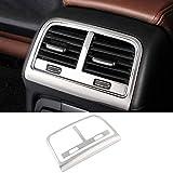 HKPKYK Para Audi Q5 a4 b8 a5, diseño del automóvil Ventilación del aire acondicionado trasero marco decorativo salida de aire adhesivos de ajuste Cubiertas
