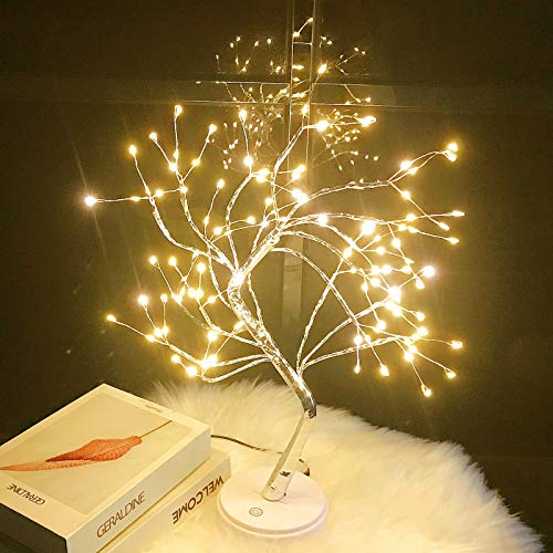 Tabletop Bonsai Tree Light - 20'' Fairy Light Spirit Tree Lamp with 108 LED Lights,DIY Lit Artificial Tree Lights Decoration for Gift Home Bedroom Wedding Festival Party (Warm White)