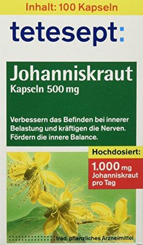 Tetesept Johanniskraut-Kapseln 500 mg, 100 Stück