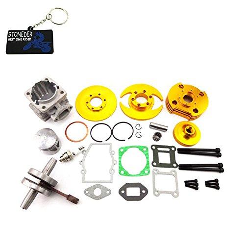 STONEDER, Kit con Testa cilindrica per Motore a 2 Tempi da 47 CC e 49 CC, Mini Dirt ATV, Quad, Bicicletta, 4 Ruote minimoto