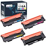 OfficeWorld Toner Cartridge Replacement for HP 116A W2060A W2061A W2062A W2063A, for HP Color Laser MFP 179fnw MFP 178nw 150a 150nw Printer, (Black Cyan Yellow Magenta, 4-Pack)