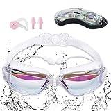 Sebami Gafas de natación,Sebami Gafas para Nadar Protección UV antivaho gogles para natacion Gafas de natación Ajustables para Adultos, niños