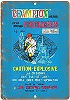 Champion Firecracker Wrapper ティンサイン ポスター ン サイン プレート ブリキ看板 ホーム バーために
