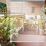 YXX-Estores Enrollables Patio Exterior Pérgola Balcón Persianas Enrollables Transparentes De PVC De Plástico para Ventanas Y Puertas - Impermeable, Grueso 0,5 Mm, Montaje Interior/Exterior