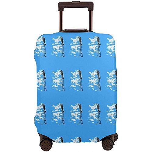 The Boy Is Drawing Lavable No se desvanece Impermeable Estampado Maleta de Viaje Protector de la Cubierta Azul Elástico A Prueba de Suciedad Trolley Funda Protector Tamaño L