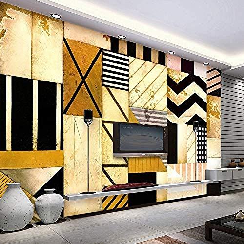 XHXI Papel tapiz fotográfico 3D pintura de decoración geométrica abstracta para sala de estar sofá TV Fondo de Pared Pintado Papel tapiz Decoración dormitorio Fotomural sala sofá mural-300cm×210cm