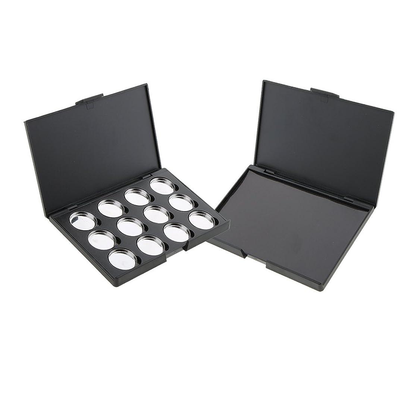子犬殺人中央値空パレット 磁気パレットボックス パン パン付きパレット 2個 アイシャドウ パウダー メイクケース DIY 収納ボックス