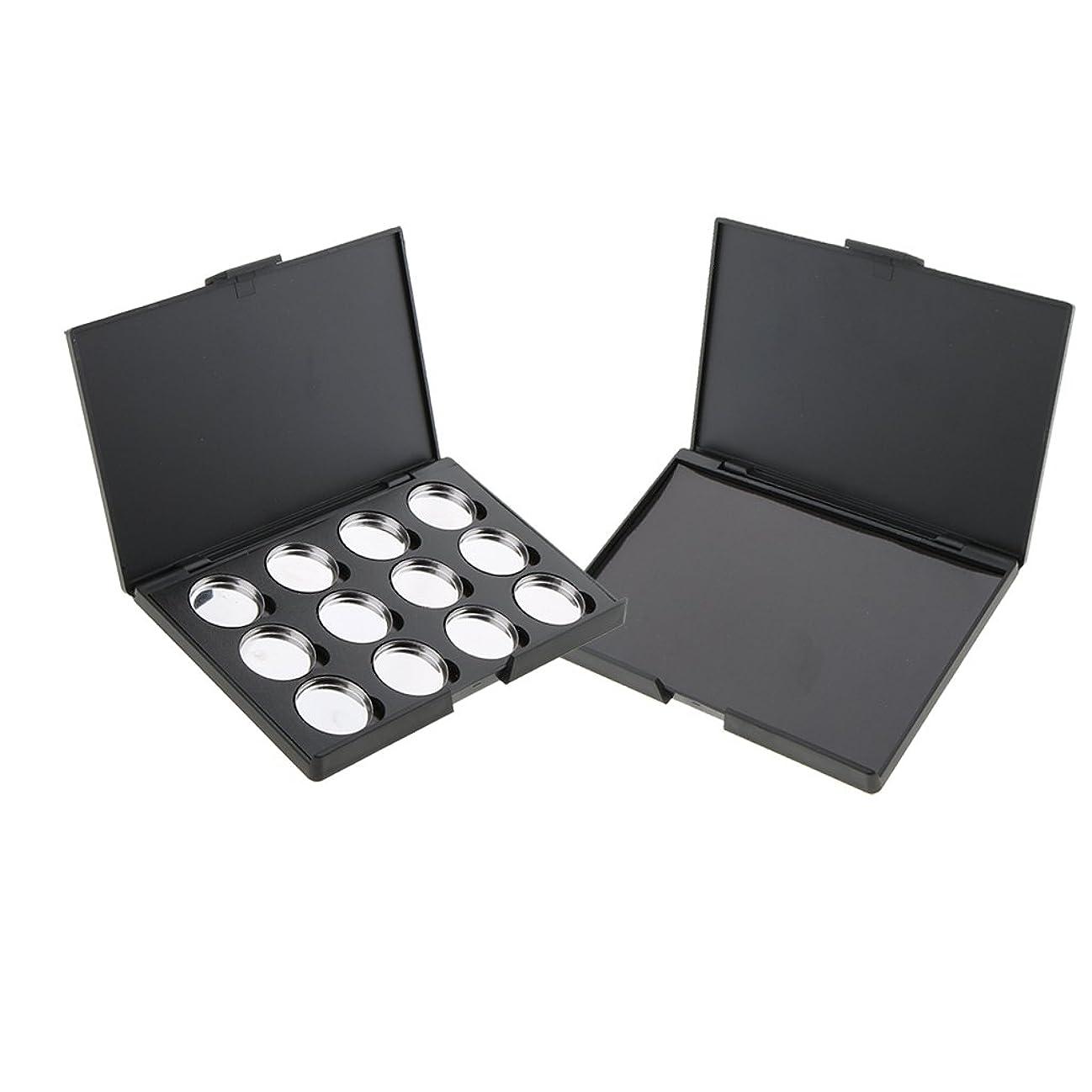 義務とは異なり豆空パレット 磁気パレットボックス パン パン付きパレット 2個 アイシャドウ パウダー メイクケース DIY 収納ボックス