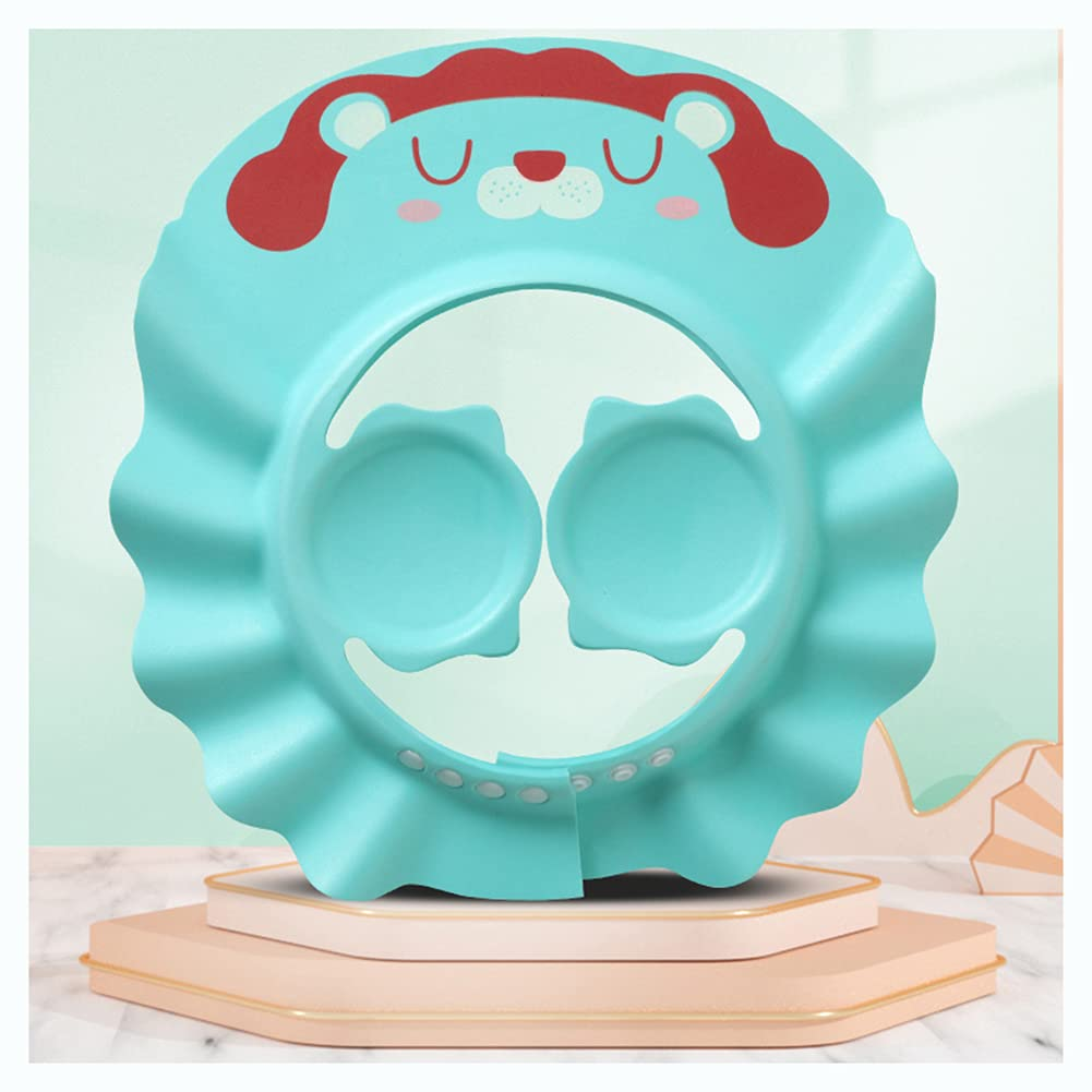 Baby Shampoo Shower Cap with Ear Protection Adjustable Wash Bath Shield Visor Hat Safe Head Hair Rinser Protection for Toddler Baby Kids Children