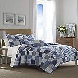 Nautica Holly Grove Blue Full/Queen Cotton Quilt-Sham Set