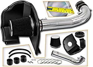 Velocity Concepts BLACK 14-19 For Silverado Sierra 1500 V8 Heat Shield Cold Air Intake + Filter