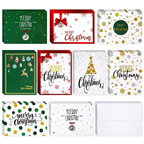 Juego de 36 tarjetas de felicitación de Navidad con sobres 9 diseños de Navidad
