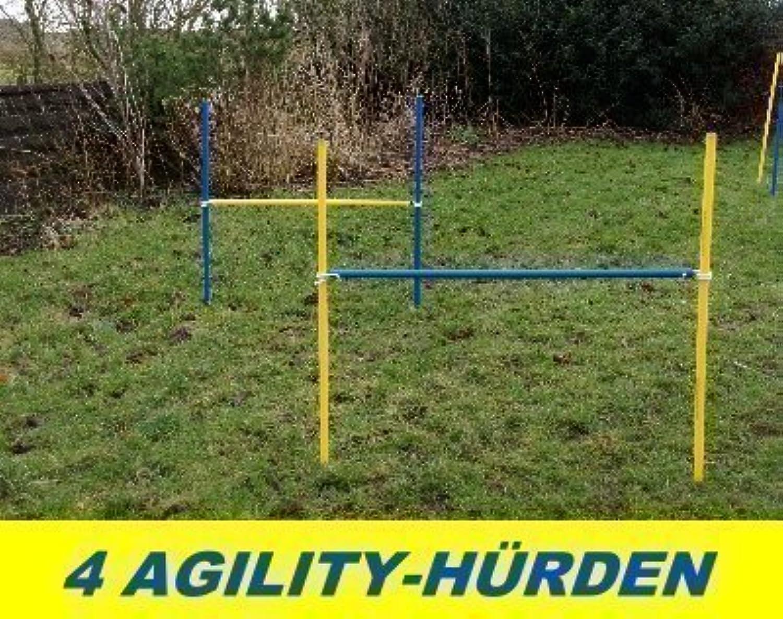 4 x Agility Training Hurdle Set, bluee   Yellow