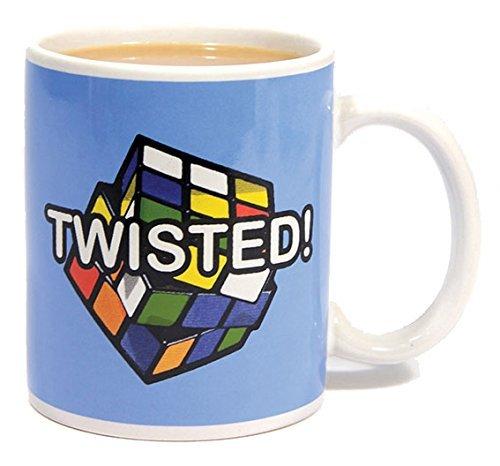 Rubik's Cube PP2401RC - Taza, diseño de Cubo de Rubik y Texto Twisted! - Taza Rubik Twisted