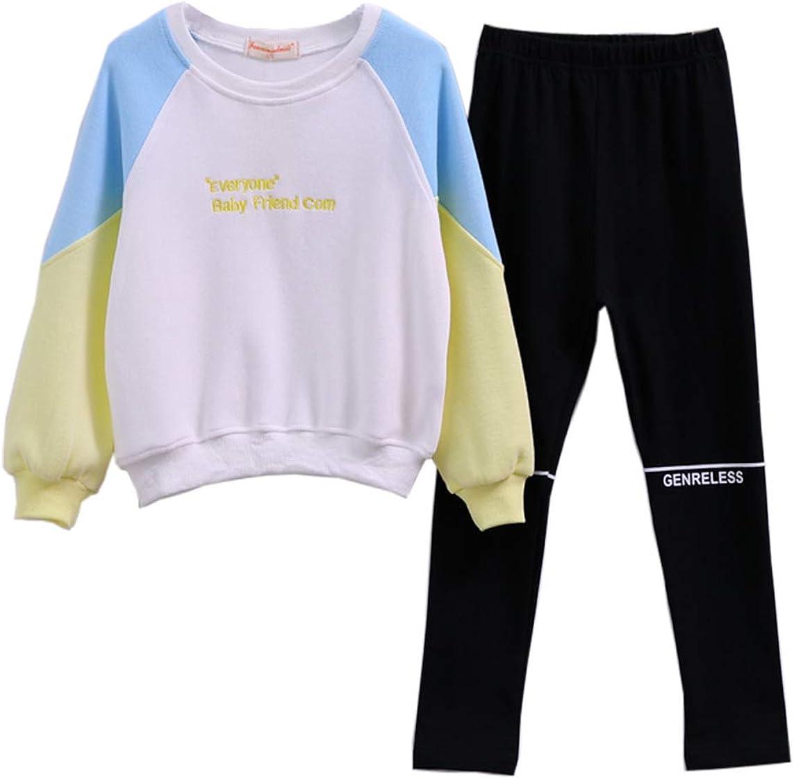 Little Max 86% OFF Girls' Kids 2 Pieces Long Top Leggings Sleeve San Antonio Mall Pants Cloth