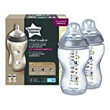 Tommee Tippee – 42262171 – Biberón decorado de 340 ml x 2 Rose