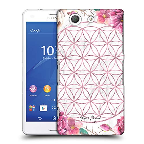 Head Case Designs Offizielle Nature Magick Rose Gold Copper Flowers Marble Mandala Geometric Gold Harte Rueckseiten Huelle kompatibel mit Sony Xperia Z3 Compact / D5803