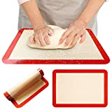 Silicone Baking Mats - Set of 2 Non-Slip Washable Reusable Baking Tray, Heat-Resistant Cooking Bakeware Mat, BPA Free