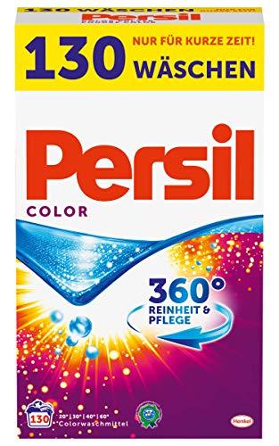 Persil Color Pulver, Colorwaschmittel, 360° Reinheit & Pflege, 1er Pack (1 x 130 Waschladungen)