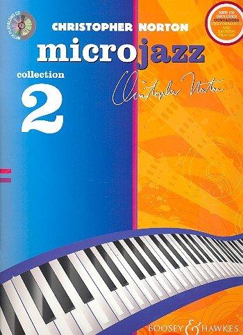 Christopher Norton: Microjazz Collection Band 2 (+CD) para piano con lápiz – 36 piezas ligeras para piano con ejercicios de inicio en estilos modernos (partituras/música de muestra)