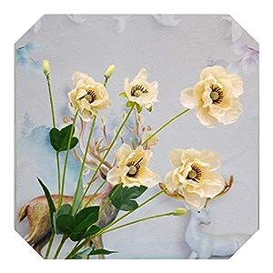 Dreamture 8heads/ Branch Poppy Silk Artificial Flower Arrangement Bridesmaid Bouquets New Decoration Fake Flower Poppy Long Stem Home-Champagne-