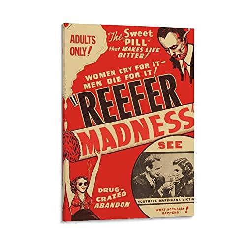 Póster vintage antidrogas 'Marihuana, The Sweet Pill That Make Life Bitter!', Estados Unidos, 1936 - Impresión decorativa para regalo, 50 x 75 cm