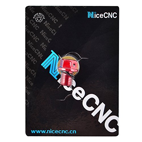 NICECNC 12mm P1.5 Red Magnetic Oil Drain Plug Bolt for 848/EVO/1098 R/S/1198 R/S All Monster 696/796/ABS 2010-821/1100/EVO/1200 2010- Diavel 2011- Hyperstrada 2014-