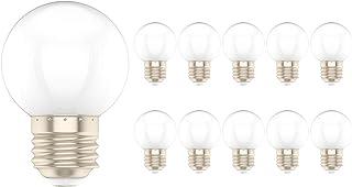 10X E27 Bombilla Color 1W Lámpara de Cálido 100LM Color LED Equivalente a Halógenas 10W AC220V-240V