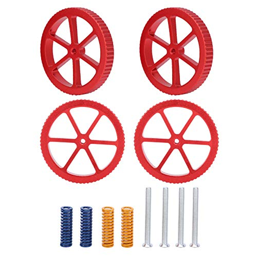 Hot Bed Supplies, 3D Printer Leveling Kit, Firm Durable Rust Resistant Practical for CR‑10 mini CR ‑10S