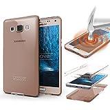 Urcover Funda Compatible con Samsung Galaxy A3 (2013) Carcasa Protectora 360 Grados Silicona Gel en Semi-Transparente Full Body Protección Completa Delantera/Trasera - Rosa