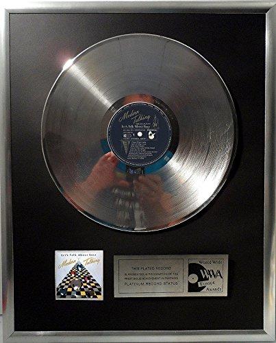 Modern Talking - Let's talk about love platin Schallplatte (goldene gold record)