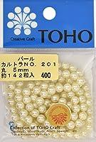 TOHO 丸型パール 外径約5mm カルトラ 約142ヶ入り No.201