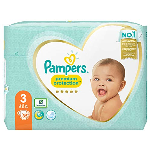 Pampers Premium Protection Größe 3, 35 Windeln, 6kg-10kg