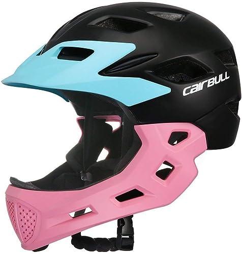 TYX Kinderfahrrad-Helm Voll-Face-Helm für Fahrradfahrrad-Kinder-Sicherheits-Garde Sportschutzausrüstung für das Reiten Skating 5 Farben optional (verstellbar 50-57cm)