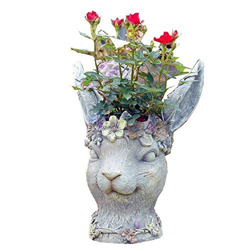 No logo SunHeMing Garten-Dekoration/Garten-Verzierungen/Zubehör/Harz Blumentöpfe/kreative Topfpflanzen Buck/Blume Blumen Stilvoll und schön