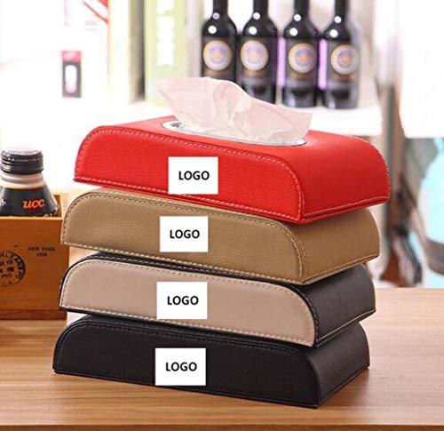 LinZX Rote Farbe Auto Armlehne Tissue Box Auto Pumpen-Kassette Halter Abnehmbarer Papierserviette-Kasten-Organisator Fit,for Honda