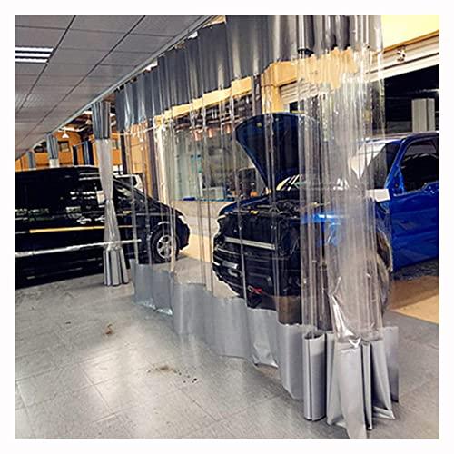 LIANGLIANG Heavy Duty trasparente trasparente telone, Outdoor Pergolato tenda porta, grande panno antipioggia per gazebo Camping Garage, formato personalizzato (colore: grigio, dimensioni: 3x4m)