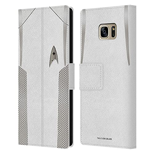 Head Case Designs Licenza Ufficiale Star Trek Discovery Ufficiale Medico Uniforme Cover in Pelle a Portafoglio Compatibile con Samsung Galaxy S7 Edge