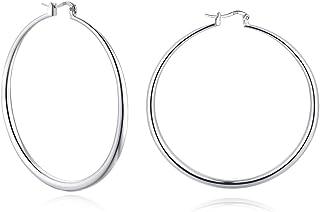 3 Pairs Big Hoop Earrings Set for Women Men Hypoallergenic Sterling Silver Post 14K Gold White Gold Plated Big Hoop Earrin...